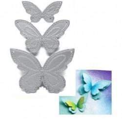 Шаблон за изрязване и релеф - пеперуди