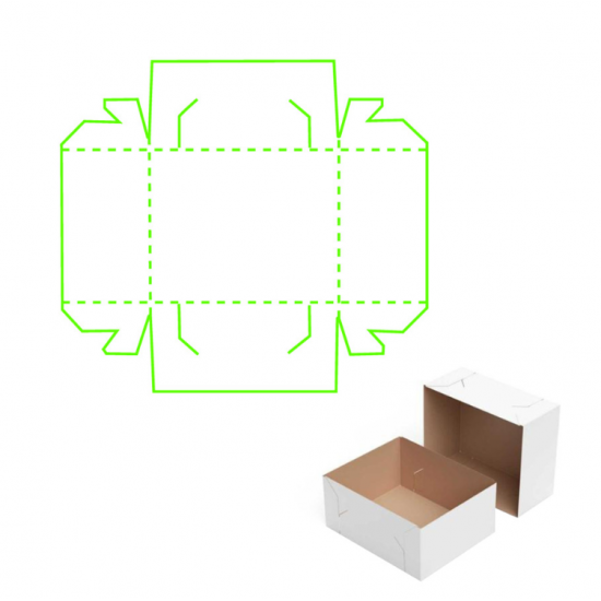 Шаблон за изрязване и релеф - Кутия
