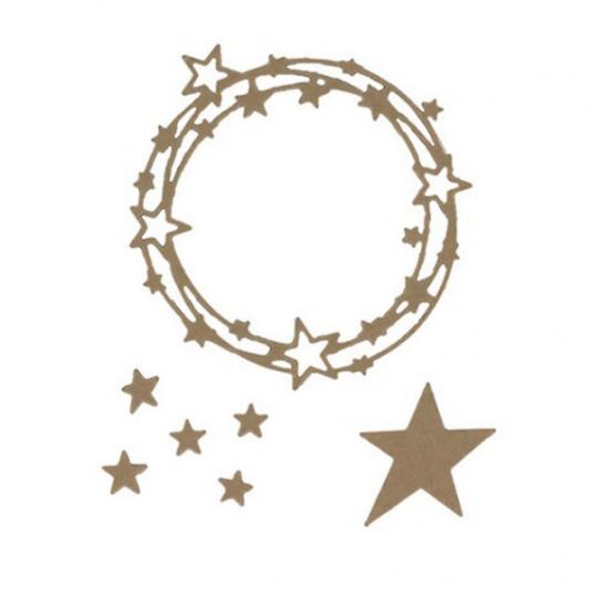 Шаблон за изрязване и релеф - звездна рамка