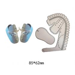 Шаблон за изрязване и релеф - бебешка обувка