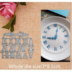 Шаблон за изрязване и релеф - часовник с римски числа