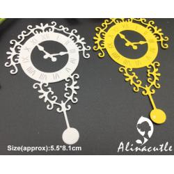 Шаблон за изрязване и релеф - Старинен часовник
