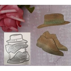 Cutting die  - men's hat and shoes