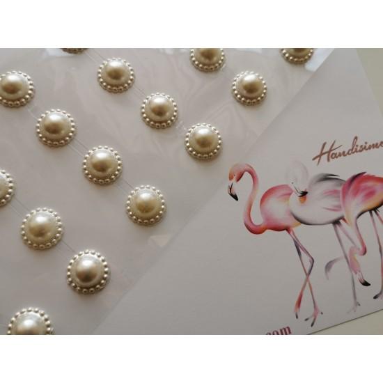 Self-adhesive pearls - 8 pcs.