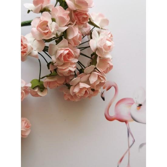 Paper flowers 12 pcs. - light pink