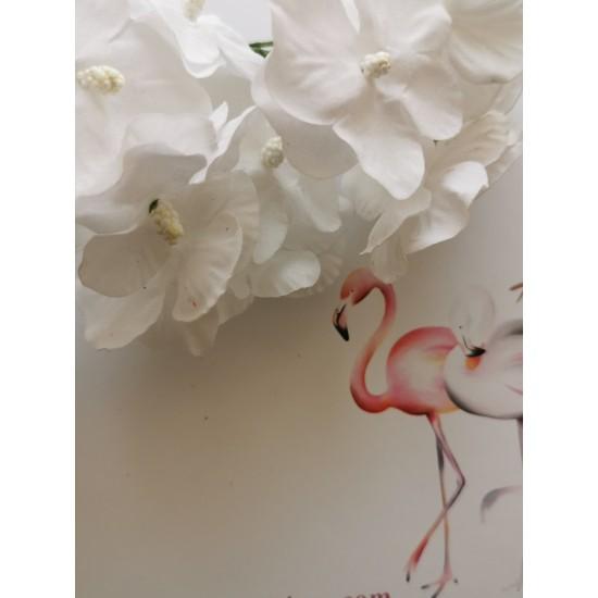 Mini hydrangeas - 6 pcs. white
