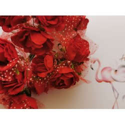 Paper roses 6 pcs. - red