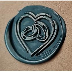 Metal wax seal stamp - Heart