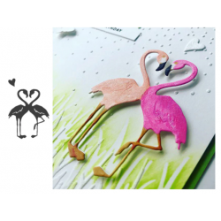 Cutting dies flamingo heart
