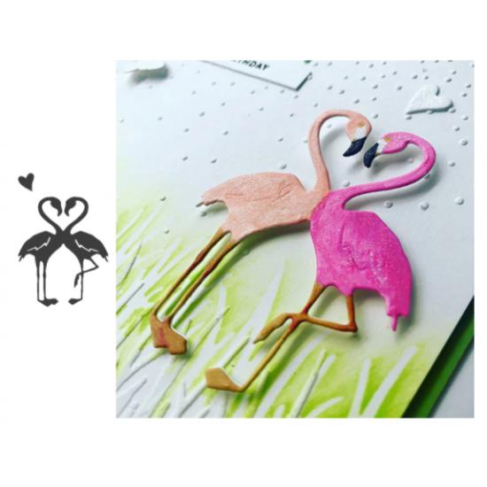 Cutting dies flamingo heart