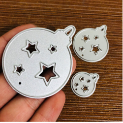 Cutting die - 3pcs/Set Christmas Ball