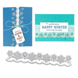 Cutting die -Snowflakes border - 2 pcs