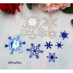 Cutting die -Snowflakes 6 pcs