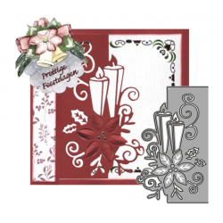 Cutting die - Christmas Lace Frame Flower Candle