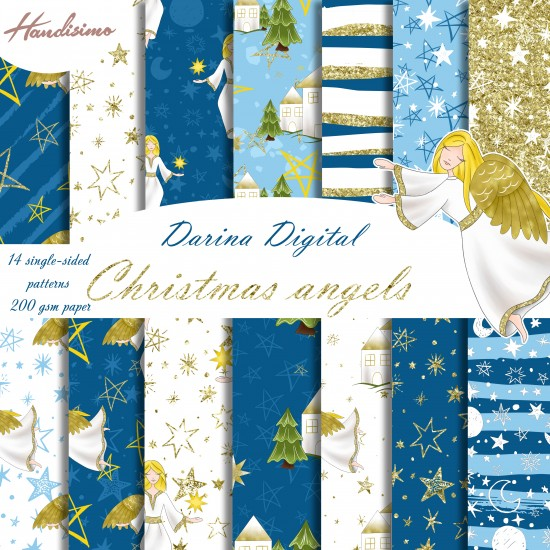 Christmas design paper -Christmas Angel - 8x8 inches