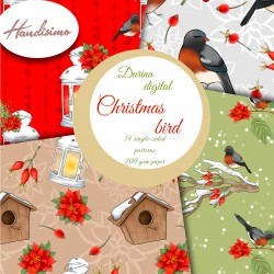 Christmas design paper - Christmas bird