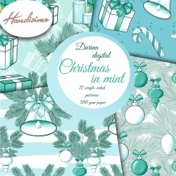 Christmas design paper - Christmas in mint