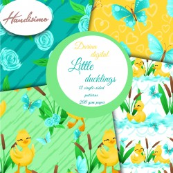 Design paper - Little duckling - 8x8 inches