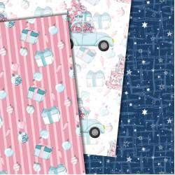 Christmas design paper - Pink Christmas