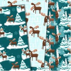 Christmas design paper -Moose around