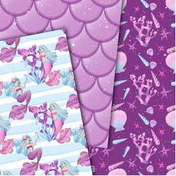 Design paper - Mermaids - 8x8 inches