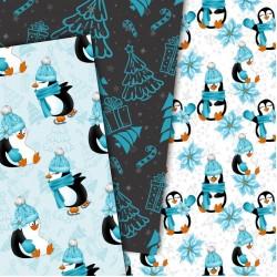 Christmas design paper - Winter penguins