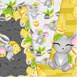 Design paper - Mice love cheese - 8x8 inches