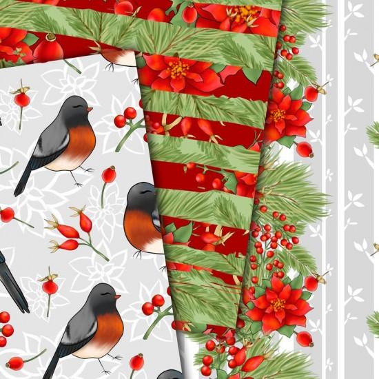 Christmas design paper - Christmas bird - 8x8 inches