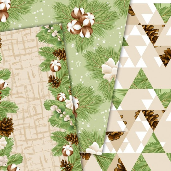 Christmas design paper - Cotton winter