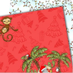Christmas design paper - Jungle Christmas - 8x8 inches