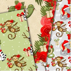 Christmas design paper - Jungle Christmas