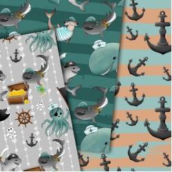 Design paper - Pirates of the sea - 8x8 inches