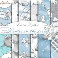 Christmas design paper - Winter animals