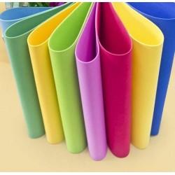 10 multicolored foam sheets