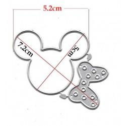 Шаблон за изрязване и релеф - Мики/Мини Маус