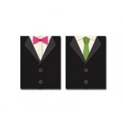 Шаблон за изрязване и релеф - мъжко официално облекло