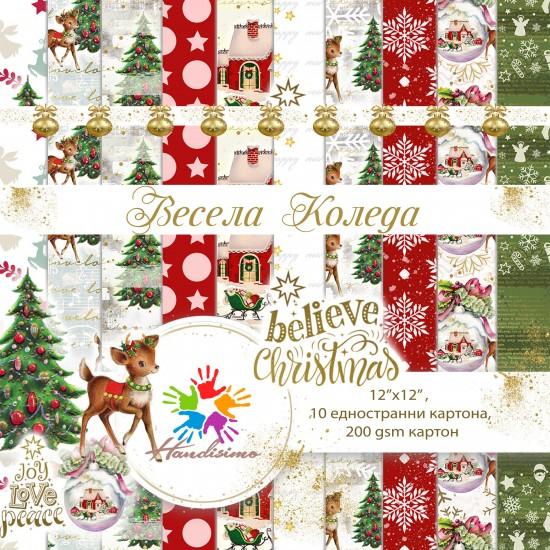 Christmas design paper pack - Bambi