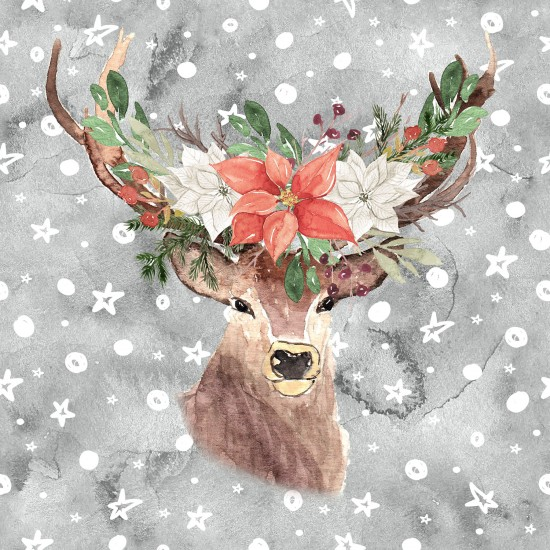 Christmas design paper pack - hand-painted deer