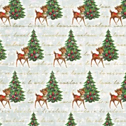 Christmas design paper pack - Bambi