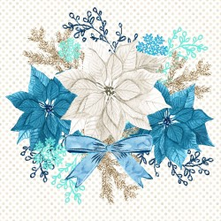 Christmas design paper pack  - blue Christmas