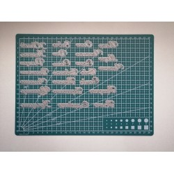 Cutting die in Bulgarian - 10 pieces set