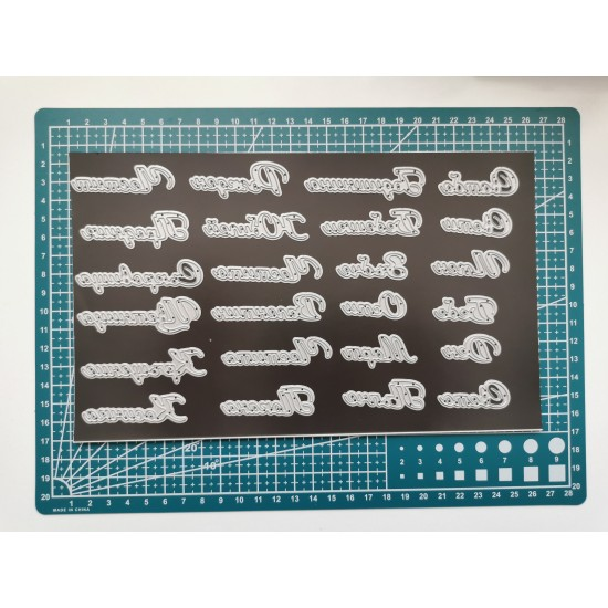 Cutting dies in Bulgarian - 24 pcs.