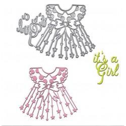Шаблон за изрязване и релеф - Рокля за момиченце
