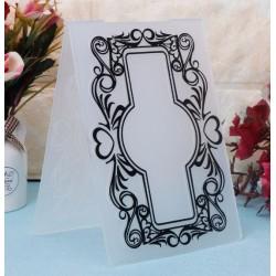 Папка за релеф (ембос) - табелка с цветя