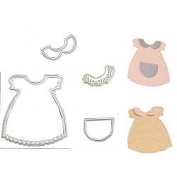 Шаблон за изрязване 4бр.- бебешка рокля
