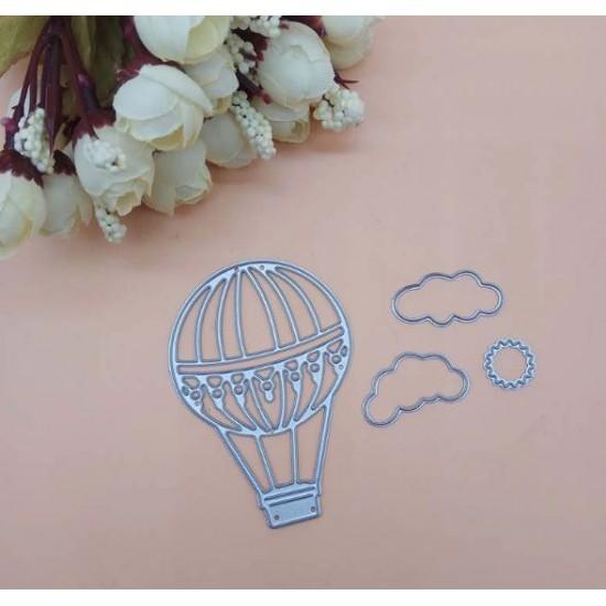 Шаблон за изрязване - балон с горещ въздух