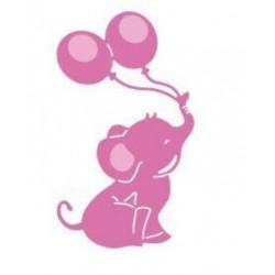 Шаблон за изрязване - слонче с балончета
