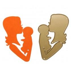 Шаблон за изрязване - мама и бебе