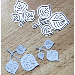Шаблон за изрязване и релеф - листенца