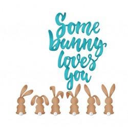 Шаблон за изрязване и релеф - Великденски зайчета